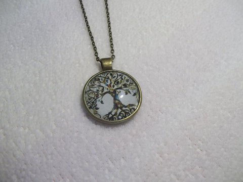 Bronze White Tree Necklace (N453)