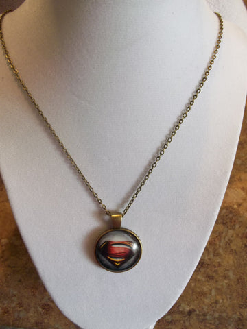 Bronze Bubble New Superman Necklace (N627)