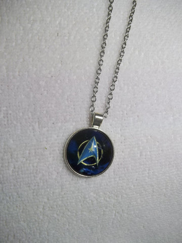 Silver Bubble Star Trek Necklace (N656)
