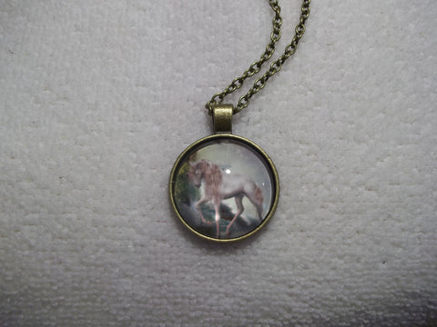 Bronze Bubble Unicorn Tan Necklace (N679)