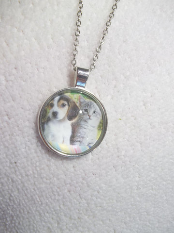 Siver Bubble Puppy Kitten Necklace (N739)
