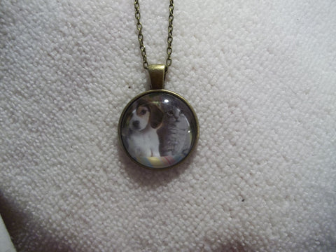 Bronze Bubble Puppy and Kitten Necklace (N740)