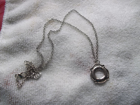 Silver Life Ring Necklace (N915)