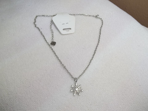 Snowflake Silver Necklace (N929)