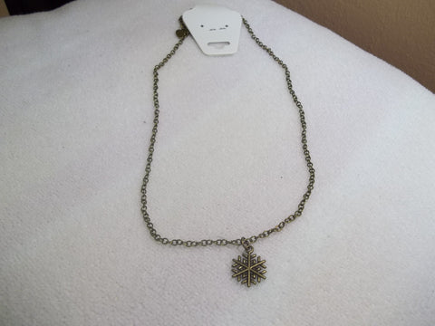 Bronze Snowflake Necklace (N930)