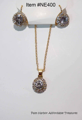 Crystal Necklace & Earring Set (NE400)