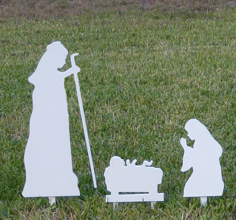 A Nativity - Blessed Family Christmas Yard Silouhette Set