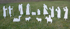A Complete Nativity - Christmas Yard Silouhette Set
