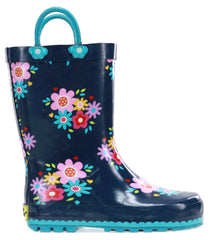 Western Chief Kids Bloom Rain Boot - Navy