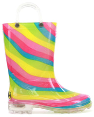 Western Chief Kids Lighted Rainbow Boot - Multi