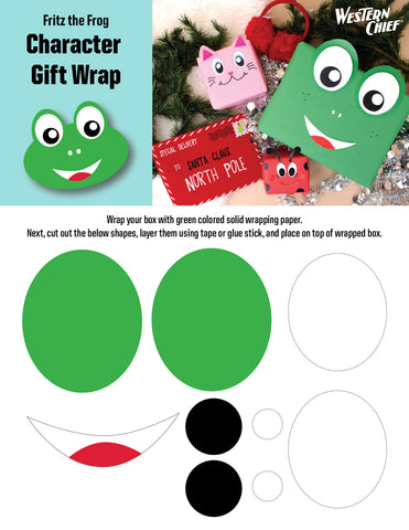 Fritz the frog character gift wrap