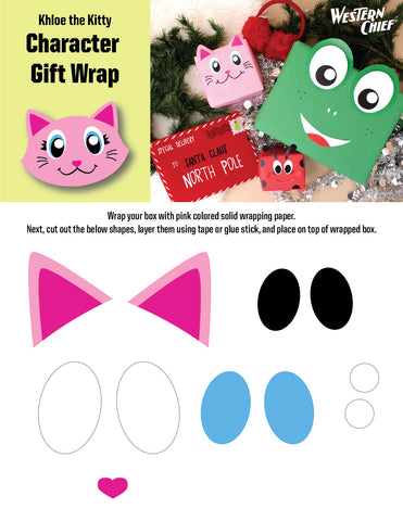 Khloe the kitty character gift wrap