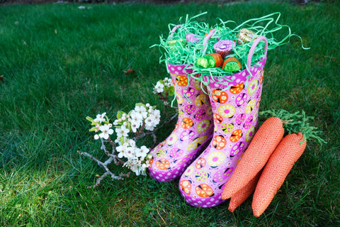 Easter Basket Boot with candy