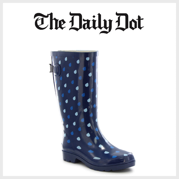 The Daily Dot - 5 Best Rain Boots For The Wet Spring Months - Western Chief Women's Raindrop Dot - Womens Boots