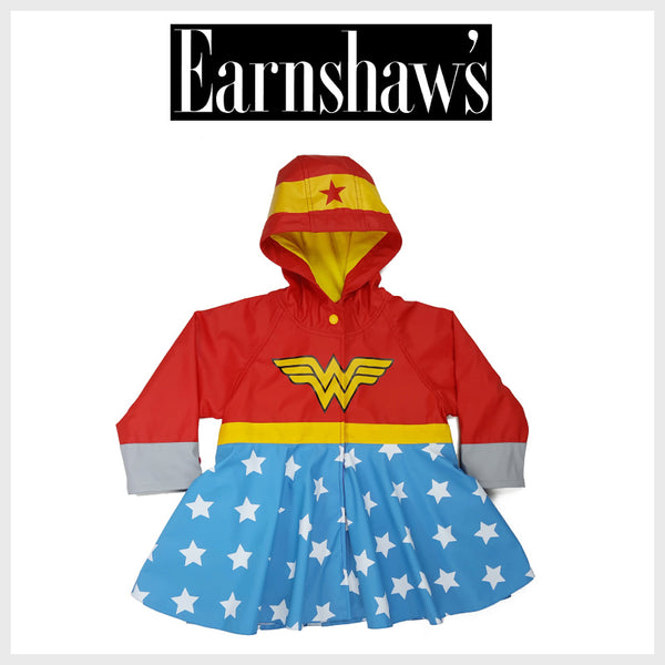 Earnshaw's - Girls Just Want to Have Fun - Western Chief - Kids Wonder Woman Rain Coat - Rain Gear Sets - Kids Rain Boots - Rain Boots Kids - Rain Boots for Girls