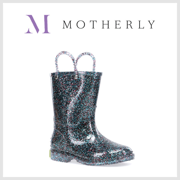 Motherly - 26 Coats and Boots to keep you and your kids cozy all winter long - Western Chief - Kids Glitter Rain Boots - Kids Rain Boots - Toddler Rain Boots