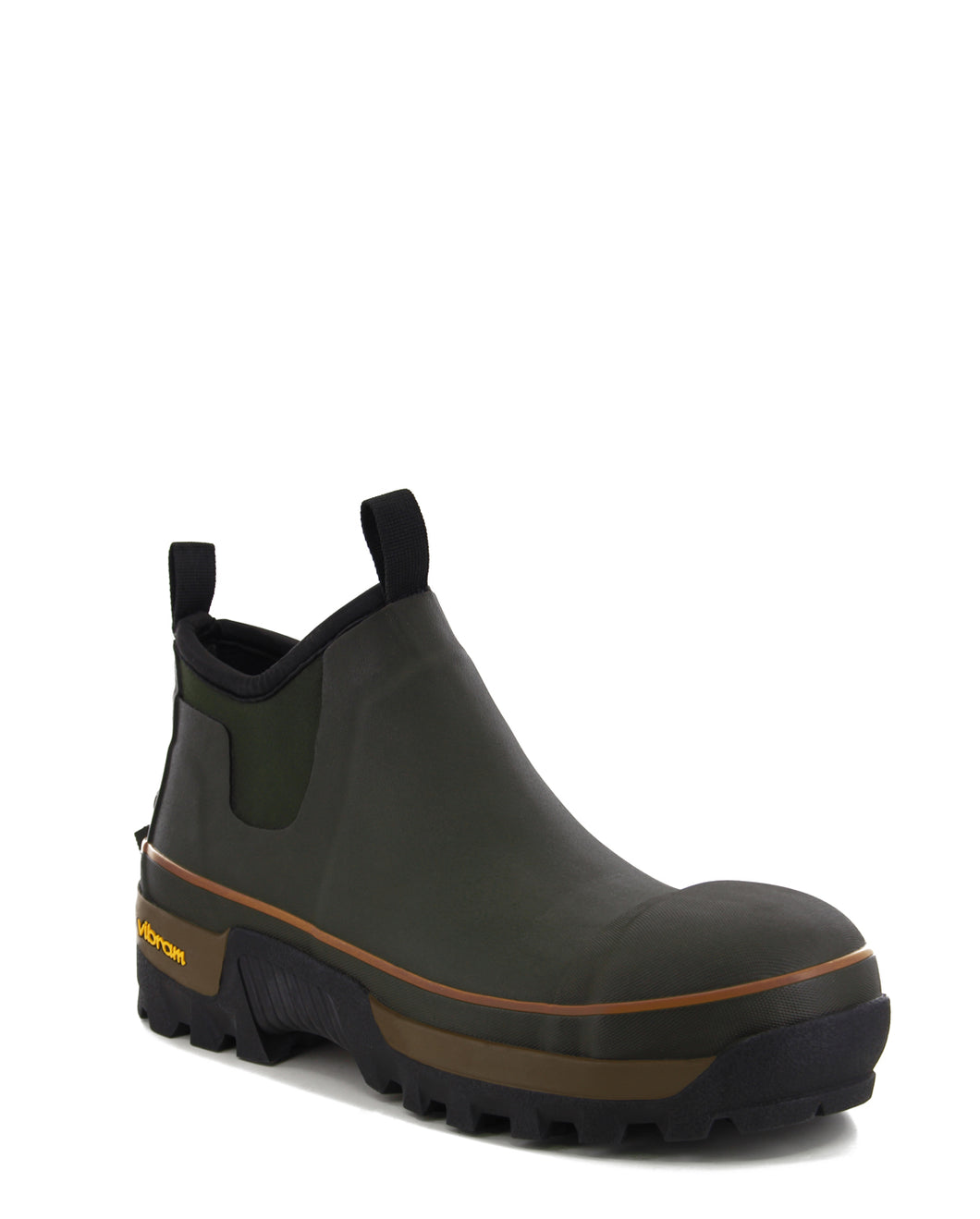 Men's Safety Neoprene Ankle Winter Snow Boot - Olive