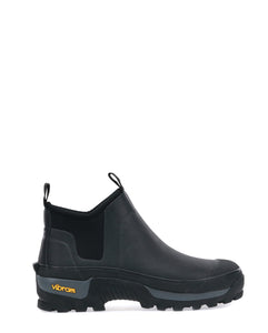 Men's Neoprene Ankle Winter Snow Boot - Black
