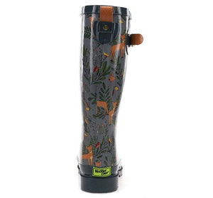 Women's Oh Deer Rain Boot - Charcoal