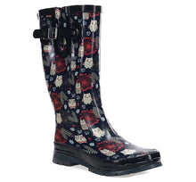 Women's Owl Whoo Rain Boot - Navy