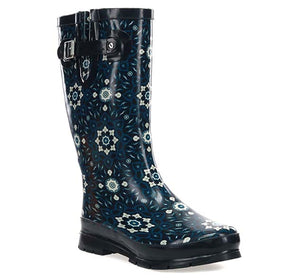 Women's Geo Tranquil Rain Boot - Black