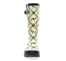 Women's Country Cows Rain Boot - Cream