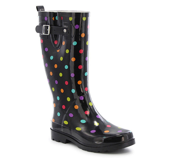 Women's Dot City Rain Boot - Black