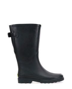 Women's Solid Vari-Fit Tall Rain Boot - Black