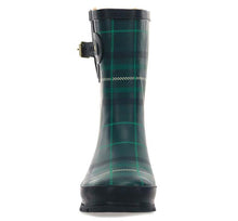 Women's Timeless Tartan Plaid Mid Rain Boot - Emerald
