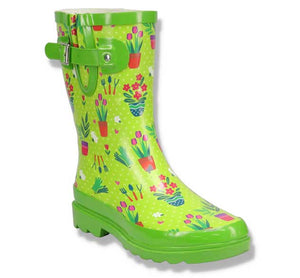 Women's Garden Days Mid Rain Boot - Green