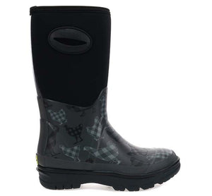 Women's Buffalo Cluck Neoprene Mid Boot - Gray