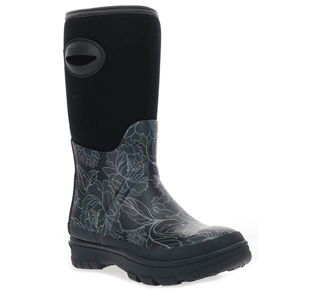 Women's Perfect Peonies Neoprene Mid Boot - Black