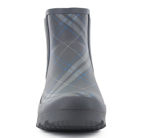 Women's Classic Dover Plaid Chelsea Rain Boot - Charcoal