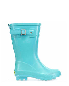 Kids Youth Classic Tall Rain Boot - Aqua