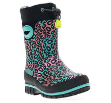 Kids Leopard Winterprene Boot - Black