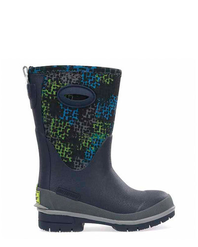 Kids Flipside Neoprene Winter Snow Boot - Navy