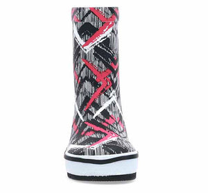 Kids Tribal Idol Rain Boot - Black