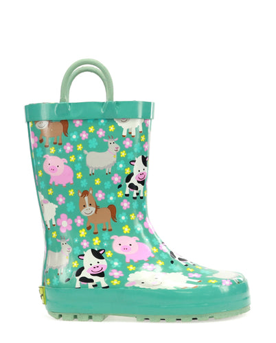Kids Farm Cutie Rain Boot - Sky Blue