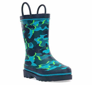 Kids Surf Camo Rain Boot - Navy