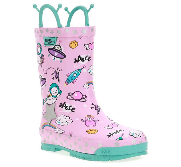 Kids Space Party Rain Boot - Pink