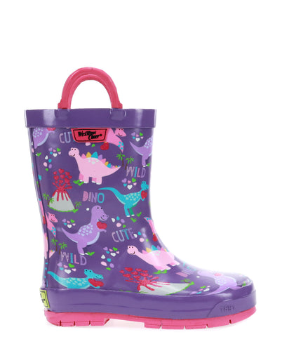 Kids Dina Rain Boot - Purple