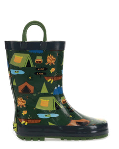 Kids Camp Out Rain Boot - Olive