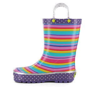 Kids Sweet Stripe Rain Boot - Multi