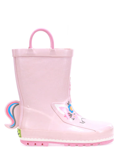 Kids Unity Unicorn Rain Boot - Soft Rose
