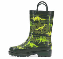 Kids Dino Quest Rain Boot - Olive