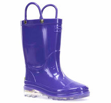 Kids PVC Lighted Rain Boot - Purple