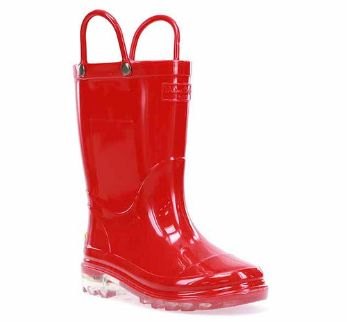 Kids PVC Lighted Rain Boot - Red