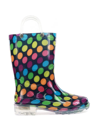 Kids Darling Dot Lighted Rain Boot - Multi
