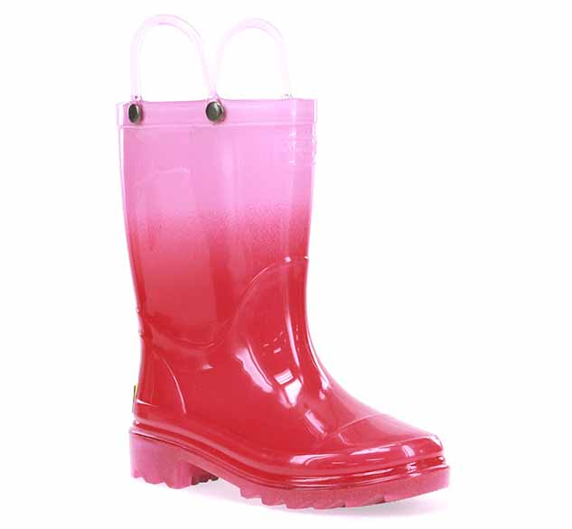 Kids Ombre Sparkle Lighted Rain Boot