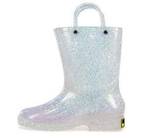 Kids Glitter Rain Boot - Iridescent